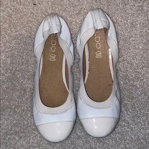 Aldo white ballet flats